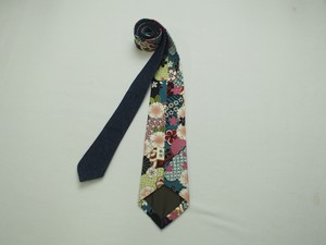 Japanese Pattern Ties Color Blue Indigo Blue nami Hand Maid