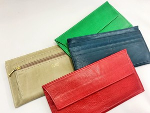 Long Wallet Pocket Wallet Flap Storage Cow Leather