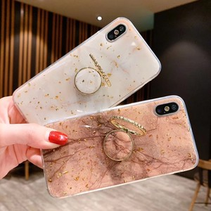 Smartphone Case Case A/W Ring Attached Case Portable Cover Back Cover iPhone Case