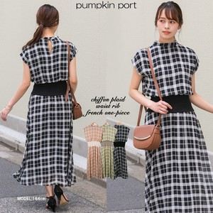 [ 2020NewItem ] Chiffon Checkered Petit One-piece Dress