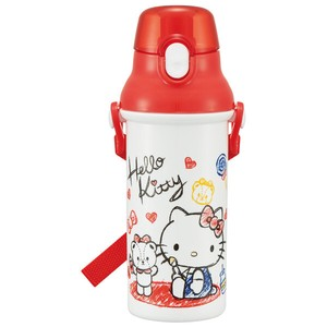 Wash In The Dishwasher for Kids To Drink Water Flask Hello Kitty Sketch