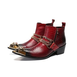 Fashion Men's Red March Boots