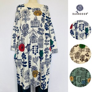 [ 2020NewItem ] Scandinavia Floral Pattern Tunic Full Length