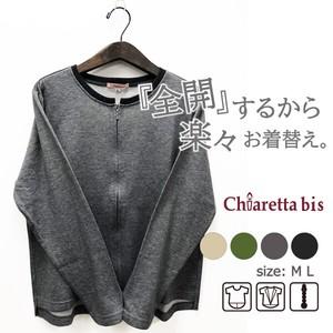 ファスナー全開♪ クルーネックTシャツ Chiaretta bis 20294