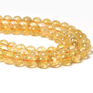 Natural stone a string of . Natural Citrine