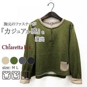 ファスナー半開♪ AラインオーバーTシャツ Chiaretta bis 20293
