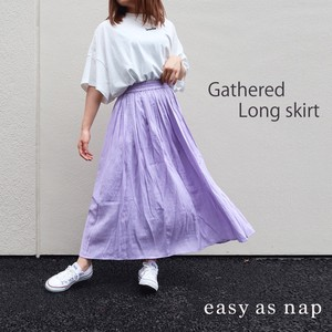 【easy as nap】【2020春新作】 ギャザーロングスカート