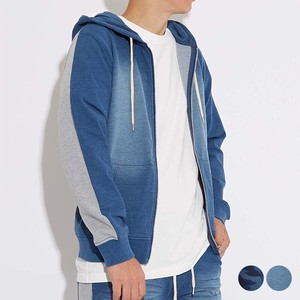 A/W Unisex Cut Denim Fleece Sweat Docking Hoody