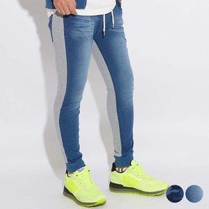 A/W Unisex Cut Denim Fleece Sweat Docking Pants