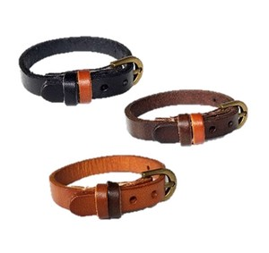 Leather Bracelet Two Tone Bracelet