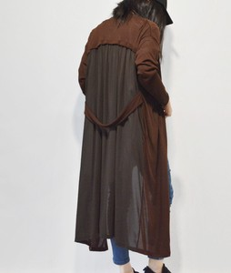 Bag Belt Design Material Switch Long Cardigan