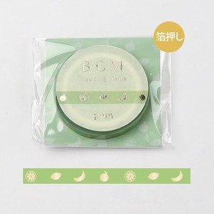 [BGM] Washi Tape  / Masking Tape Life Foil Stamping Green Fruit