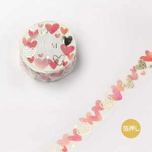 [BGM] Washi Tape  / Masking Tape Life Foil Stamping Colorful Heart
