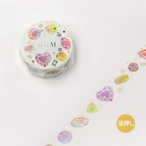 [BGM] Washi Tape  / Masking Tape Life Foil Stamping Colorful Jewelry