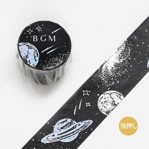 [BGM] Washi Tape  / Masking Tape Foil Stamping 2 Colors Foil Stamping Space AP