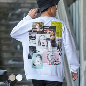 A/W Unisex Photo Collage Print Big Fleece Sweat Sweatshirt