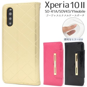 Smartphone Case With Mirror Xperia Y!mobile Enamel Notebook Type Case