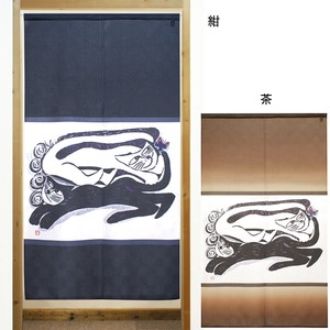 Build-To-Order Manufacturing Japanese Noren Curtain cat Butterfly Japanese Style Cat