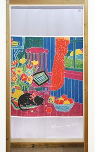 Build-To-Order Manufacturing Japanese Noren Curtain Cat