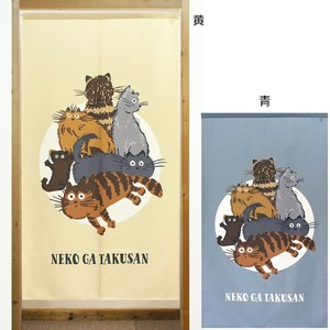 Build-To-Order Manufacturing Japanese Noren Curtain cat Cat