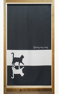 Build-To-Order Manufacturing Japanese Noren Curtain way Cat