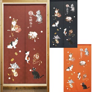 Build-To-Order Manufacturing Japanese Noren Curtain Beckoning cat Japanese Style Cat
