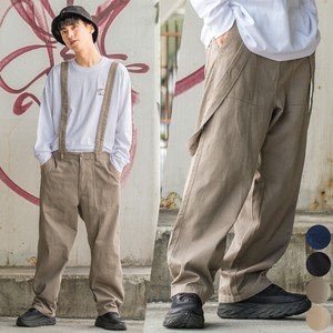 [2020 A/W New] Twill Suspender Attached Military Wide Baker Pants