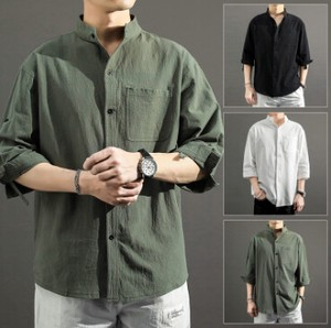 Three-Quarter Length S/S Model Men Shirt