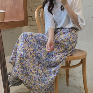 Ladies S/S Chiffon High-waisted Skirt