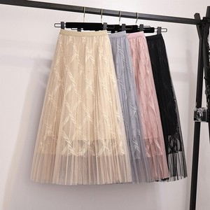 Ladies S/S Embroidery Skirt