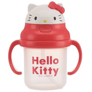 SKATER Baby Silicone Taste Cut Straw Hopper Both Hands Kitty