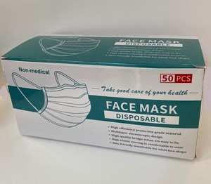 Mask 50 Pcs Non-woven Cloth Mask Mask 50 Pcs Mask