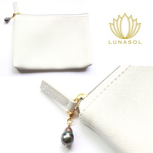 Pearl velty Pouch Pearl Charm Attached Mask Case