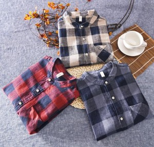 Cardigan Three-Quarter Length Checkered Shirt S/S