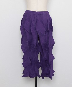 Jagged Pleats Pants