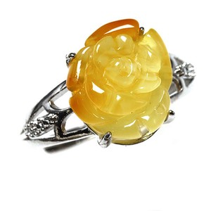 Natural Amber Natural Amber Ring Ring Rose Free