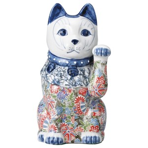 """2020 New Item"" Yuzen Porcelain Beckoning cat Beckoning cat"
