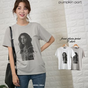 [ 2020NewItem ] Korea Stretch Front Photo Print Ladies T-shirt