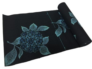 Japanese yukata fabric(morning glories) black