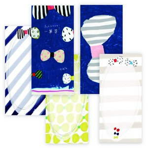 Subikiawa. Mino‐washi Japanese Paper One-stroke Note - Ribbon