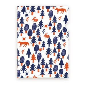 Nishi Shuku Clear document Folder Project Pockets for A4 size  - Forest