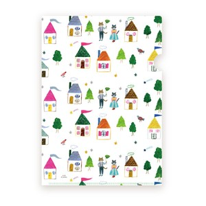 Aiko Fukawa Clear document Folder Project Pockets for A4 size  - House