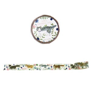 Aiko Fukawa Masking Tape (Decorative Adhesive Tape)  - Cat
