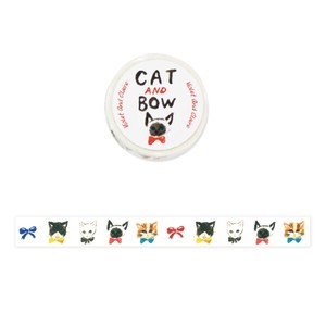 Violet & Claire Sumire Taya Masking Tape (Decorative Adhesive Tape) - CAT AND BOW