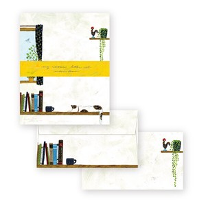 Midori Asano Writing Stationery Paper with Envelopes - My room letter set