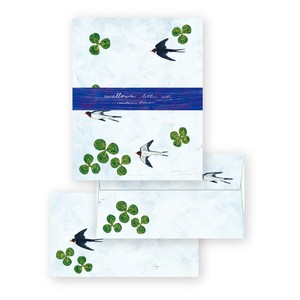 Midori Asano Writing Stationery Paper with Envelopes  - Swallows letter set