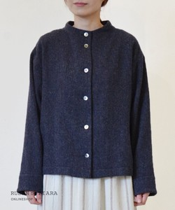 【日本製】  Herring bone shaggy  blouse