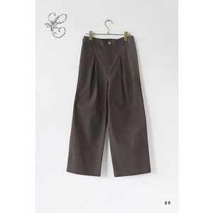 Textured Cotton  Straight  Pants