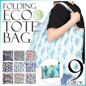 S/S Eco Bag Folded Nylon Size M Repeating Pattern Men's Ladies Fancy Goods