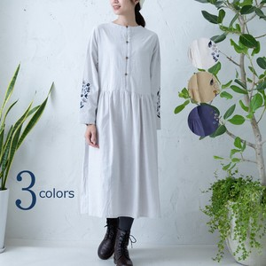 Early Spring Double Front Gather One-piece Dress